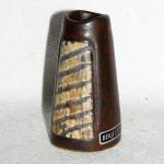 Miniatyrvas, brun och grå glasyr