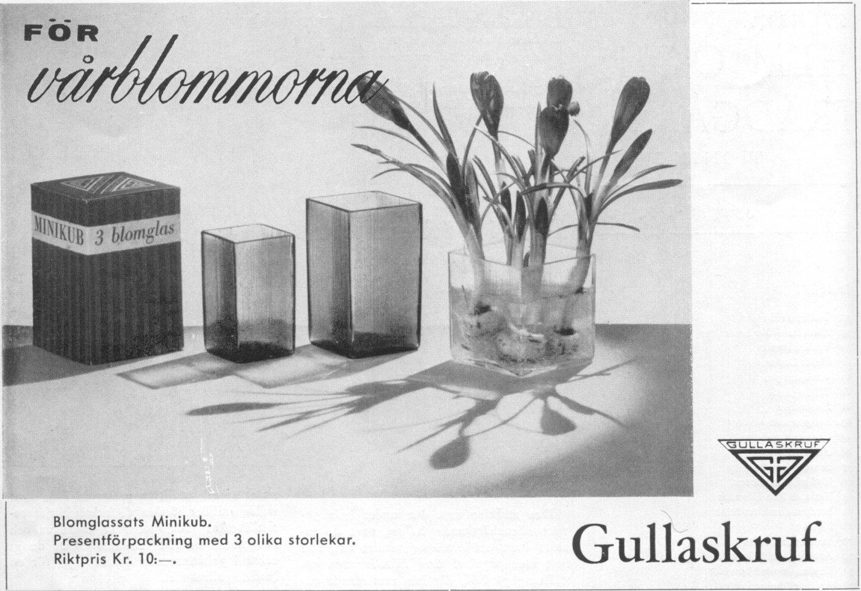 Svenska Hem 1960-3 (s 60) Blomglassats ISI Minikub